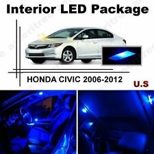 Blue LED Lights Interior Package Kit for Honda Civic 2006-2012 ( 6 Pieces )