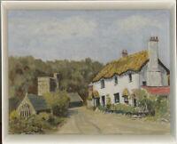 D. Eggo - Signed & Framed Mid 20th Century Oil, Village Green