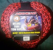 Airhead Heavy Duty Deluxe Tube Tow Rope 4 Riders 60 Feet 680 lb max rider weight