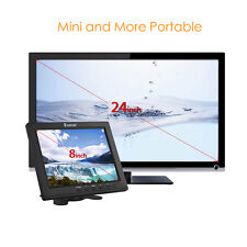"8"" IPS LCD TFT Screen HDMI VGA AV BNC Monitor Display CCTV Camera Video DVD FPV"