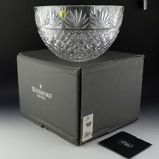 """Waterford Crystal Bowl 10"""" Deep Centerpiece / Serving Fans & Criss-Cross Ireland"""