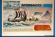 Yt  1356 VIKING GROENLAND   MONACO  CARTE MAXIMUM 1° JOUR FCP