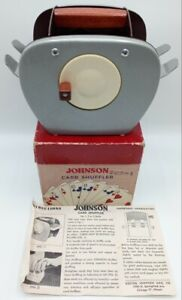 Vintage Johnson Card Shuffler w/ Original Box & Instructions! - Model 50 - Rare!