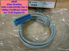 NEW Allen Bradley 1492-CABLE025E Ser C 18Way PreWired Cable for 1746 Digital I/O