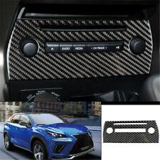 For Lexus NX200T 300 2015-2020 Black Carbon fiber central console CD  panel trim