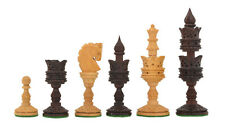 "Wooden Chess Pieces of the Lotus Series in Rose & Box Wood - 4.40"" King M0003"
