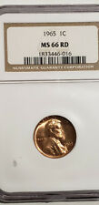 1965 Lincoln Cent Certified NGC MS-66-Rd - Nice !