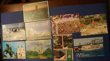 Lot Of 9 Postcards New Orleans, LA Miss. River Mardi Gras Jackson Sq City Views