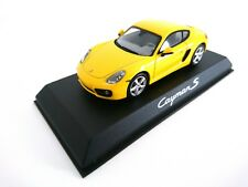 Porsche Cayman S Yellow 1:43 NOREV DEALER BOX DIECAST MODEL CAR