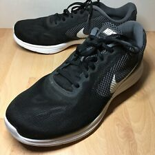 Nike Revolution 3 Men's 12 W - Black Running Shoes - 819301-001 - EUC
