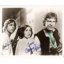 Star Wars Cast ++ Autogramm ++ Mark Hamill ++ Harrison Ford ++ Carrie Fisher