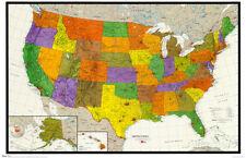 U.S. Map Poster Print, 34x22.5