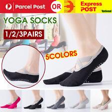 1/2/3Pairs Yoga Women Sports Cotton Rich Pilates Non-Slip Grip Socks Exercise AU