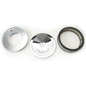 Edelbrock 1208 Pro-Flo Chrome Air Cleaner Assembly, Round, 2 Inch