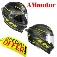 Agv Gp R Pista Top Project 46 2.0 Carbon Rossi Casco Tg MS 57 58 New