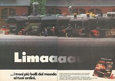 X0507 Ferrovie e Treni elettrici LIMA - Pubblicità del 1980 - Vintage advert