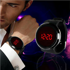 Men's Digital LED Touch Screen Dial Sport Silicone Wrist Watch Black Fashion