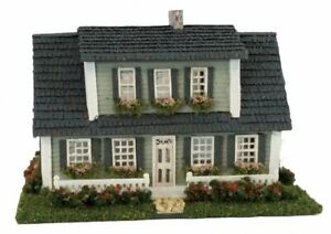 Dollhouse Miniature 1:144 Scale Full Cape Cod House Kit Complete