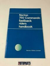 Norton 750 Commando Fastback Riders Handbook 1968