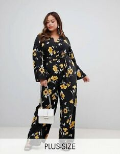 🤍 Influence Fashion NWT | Long Sleeve/Leg Floral Print Jumpsuit | Size 18
