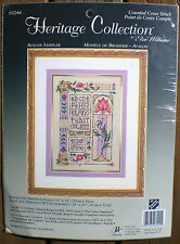 """JCA Heritage Collection / Joan Marchie """"Avalon Sampler"""" Counted Cross Stitch Kit"""