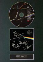 PINK FLOYD Dark Side Of The Moon Signed CD Mounted Autograph Photo Prints A4 60