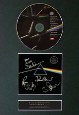PINK FLOYD Dark Side Of The Moon Signed CD Mounted Reprint Autograph Print A4 60