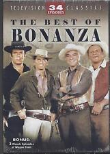 THE BEST OF BONANZA  Lorne Greene Michael Landon 34 TV Episodes NEW 4-DVD SET