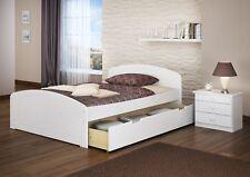 Funktionsbett 140x200 Doppelbett +Matratze Rollrost Bettkasten Weiß 60.50-14 WM