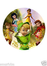 "Tinker Bell Disney Cake Topper Party Personalized Edible Wafer Paper 7.5"" img a7"