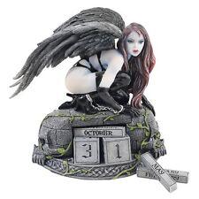 Goth Girl Women Gothic Dark Angel Statue Figurine Medeival Office Desk Decor
