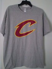CLEVELAND CAVALIERS Shirt Short Sleeve XL GRAY 2016 Fan Promo LEBRON JAMES
