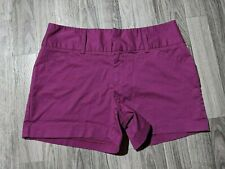 Daisy Fuentes Womens Size 6 Pockets Magenta Purple Shorts