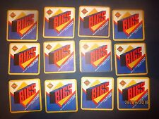 12  SMITH,S BIGS  POTATO CHIPS advertising COASTERS collectable small  1990,s