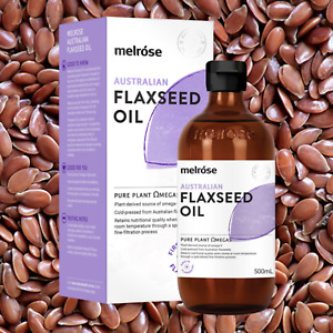 Melrose Australian Flaxseed Flax Seed Linseed Oil 500ml | Chemical Free