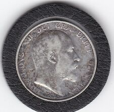 Sharp   1904  King  Edward  VII  Sterling  Silver  Shilling  British Coin