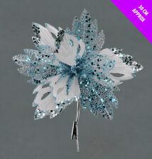 3 Eisblau Weihnachten Weihnachtsstern Auswahl Dekoration Baum Clips Kranz