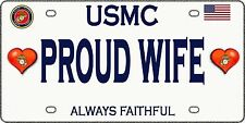 Proud Marine Wife  - Tough, Durable Magnet - 6inX3in