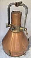 Vintage Original Marine Copper & Brass Nautical Ship Hanging Deck Light Piece 1