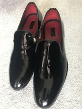 PAL ZILERI Black Patent Leather Shoes - UK8 EU42 US9