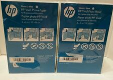 """360 Sheets HP Vivid Photo Paper 4""""x6"""" GLOSSY White CG937A NEW SEALED Fast Drying"""