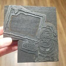 Vintage Letterpress Printing Block Christmas Santa Claus 4 38 X 4 58 X 78
