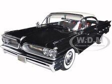 1959 PONTIAC BONNEVILLE IVORY/REGENT BLACK 1/18 PLATINUM EDITION BY SUNSTAR 5174