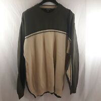 Nautica Men's 3XL Green/Tan Sweater