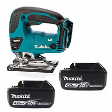 MAKITA 18V LXT BJV180Z JIGSAW & 2 x BL1840 BATTERIES FUEL CELL INDICATOR