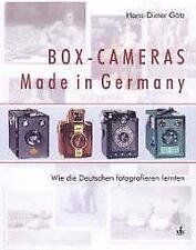 Box-Cameras Made in Germany - Hans-Dieter Götz - 9783889551313 PORTOFREI