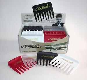 Denman Jack Dean Pompadour Streaker Comb Male Grooming x24 FULL DISPLAY BOX