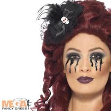 Schwarz Mini Hut Skull Haarspange Halloween Kostüm Damen Kostüm Zubehör