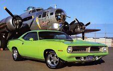 "Green American Muscle Car Mini Poster 24"" x 36"""