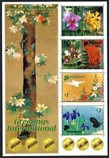 Singapore stamps 2006 Japan joint issue Gold Printing sheetlet Flowers, Birds